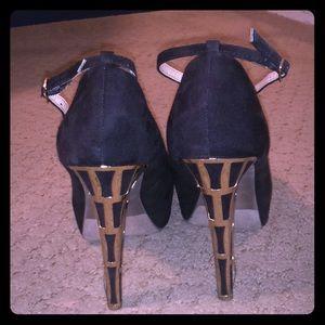 Black Ankle-Strap Pumps